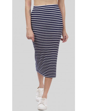 SbuyS  - Midi Stripe Skirt