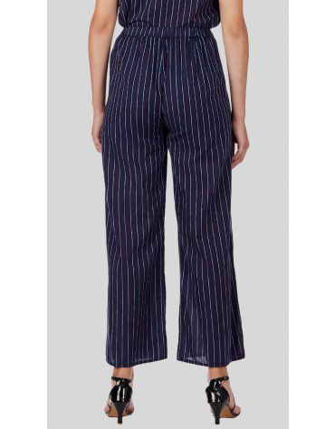 SbuyS  - Stripe Wrap Over Wide Leg Co-ords Trousers Set