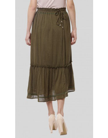 SbuyS - Side Tie Midi Skirt