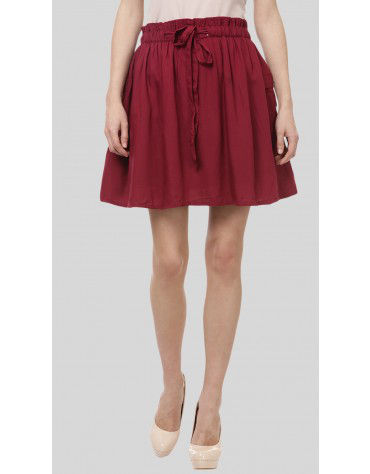 SbuyS  - Paperbag Waist Skater Skirt
