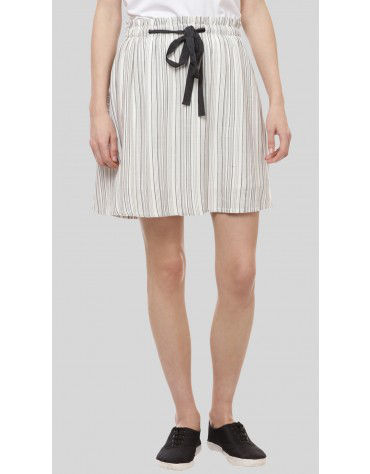 SbuyS - Stripe Paperbag Waist Skater Skirt