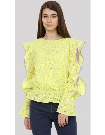 SbuyS - Ruffle Sleeves Blouse