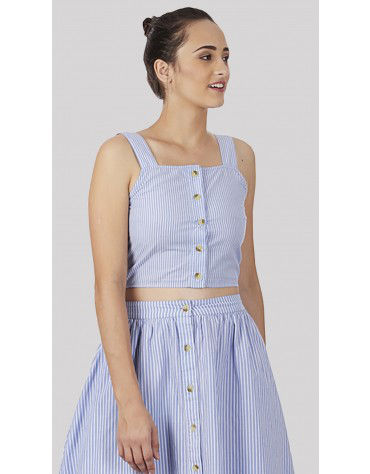 SbuyS  - Pinafore Cami Crop Top