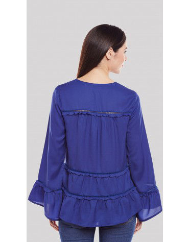 SbuyS  - Tiered Ruffle Peasant Blouse