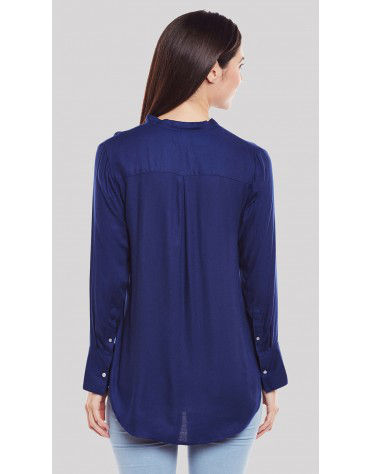 SbuyS  - Buckle Strap V Neck Blouse