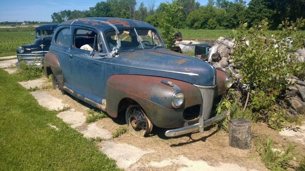 Complete project 1941 Ford Sedan on Chevy frame