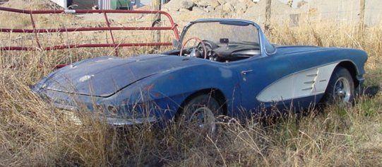 barn find 1961 Chevrolet Corvette Convertible project