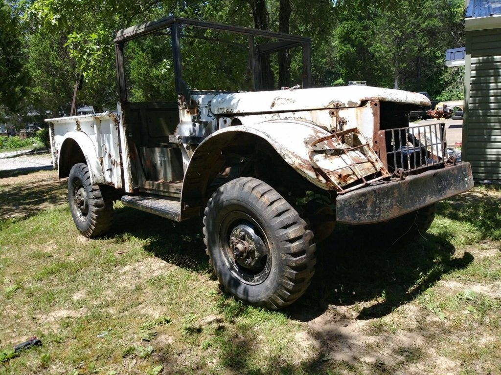rare 1951 Dodge m37 Power wagon military project