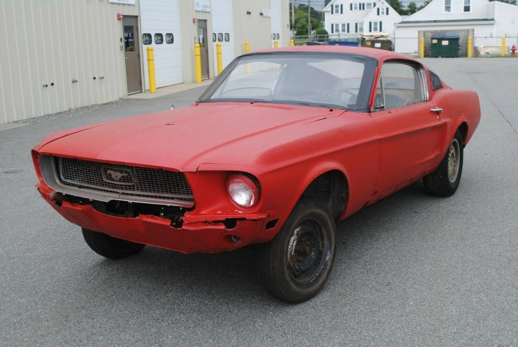 missing engine 1968 Ford Mustang Project