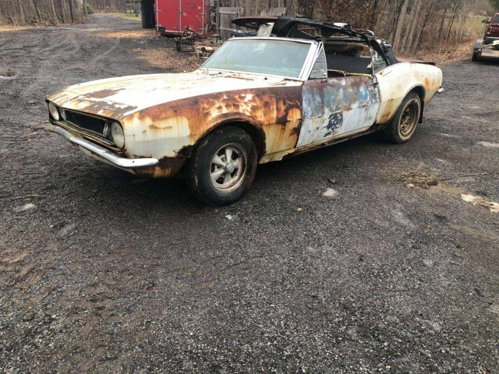 needs complete restoration 1967 Chevrolet Camaro Convertible Project