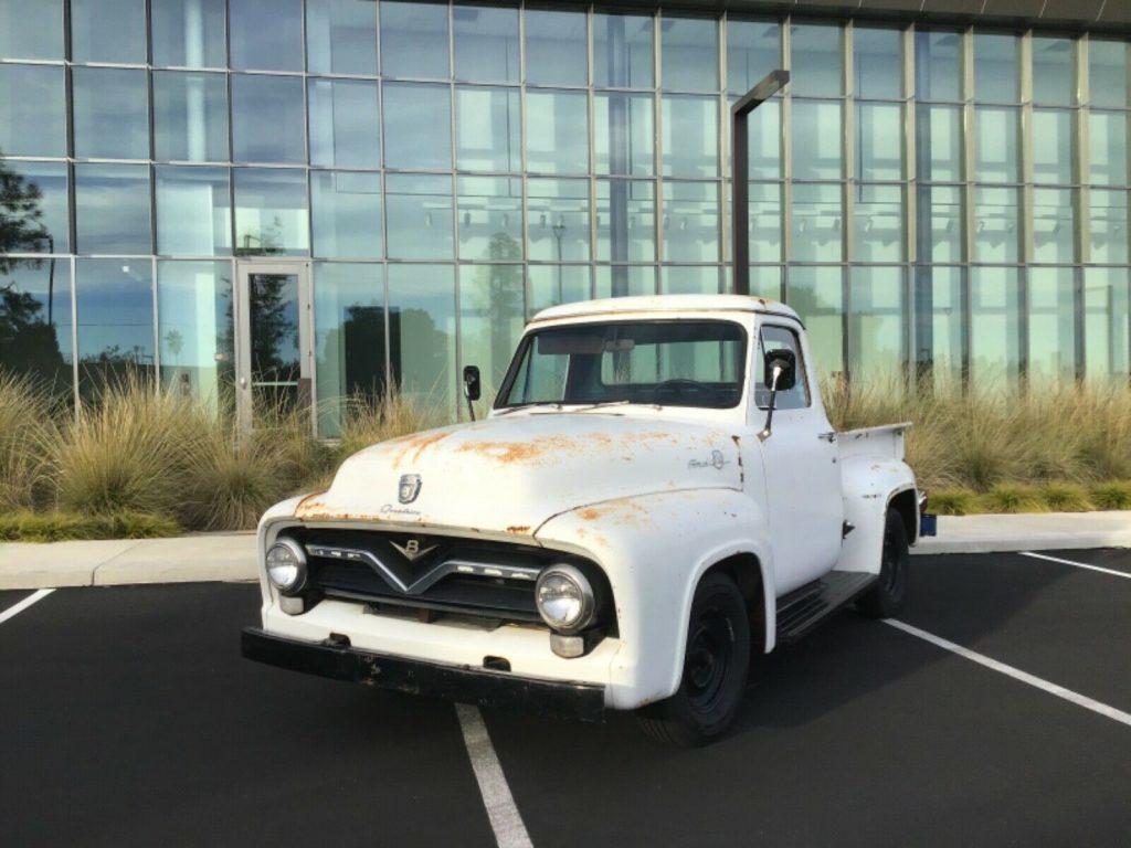 1955 Ford F 100 Custom cab project [rebuilt drivetrain]