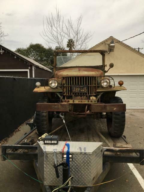 rare 1941 Dodge Power Wagon WC2 WC4 Weapons Carrier Military project
