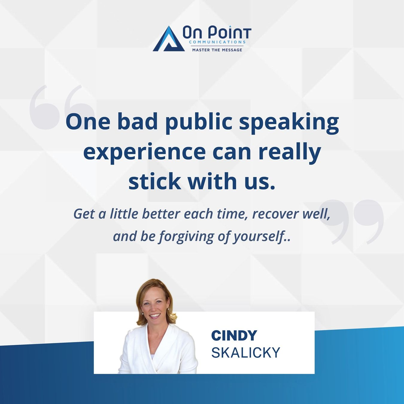 The 3 steps public speakers take to own & master your message on stage | Cindy Skalicky