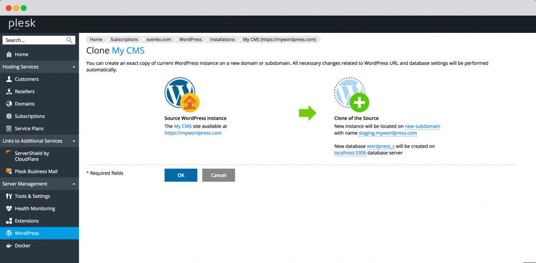 WordPress Hosting Plesk