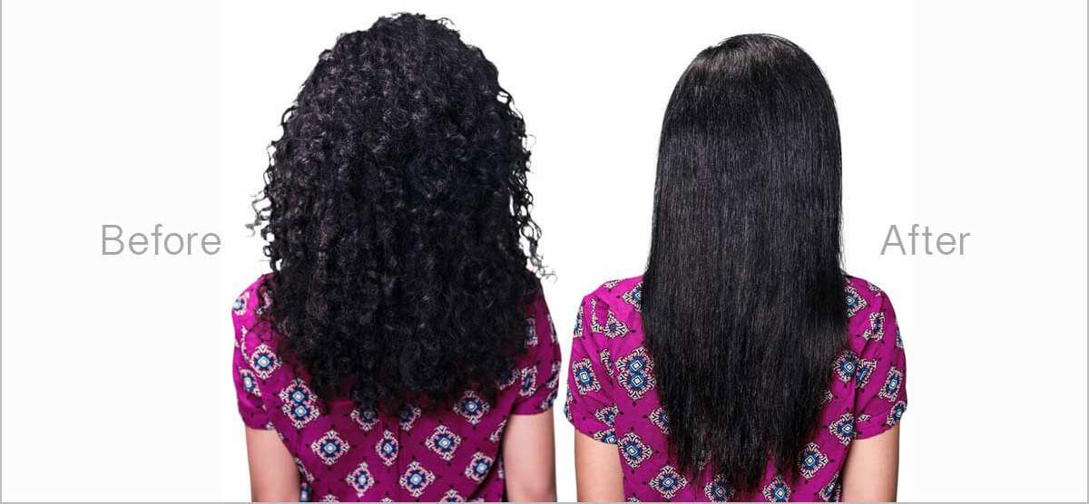 9 Steps of Straightening Hair