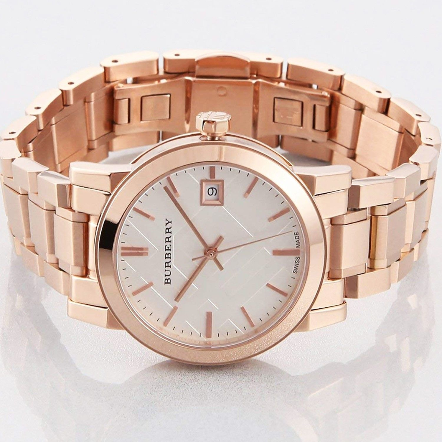 Burberry Women's  Heritage Rose Gold-Plated Stainless Steel Watch