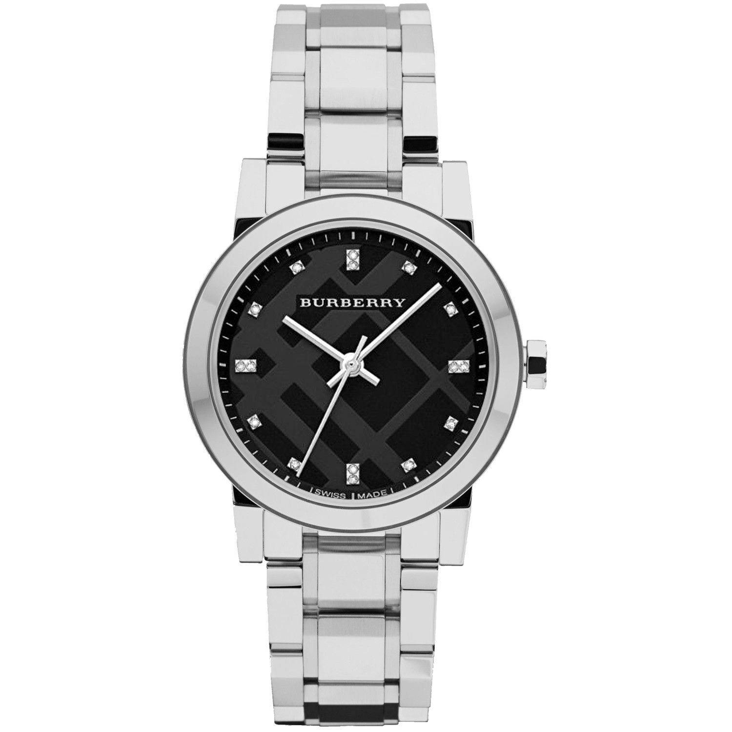 Burberry Women's Ceramic Black Dial Watch stainless Steel