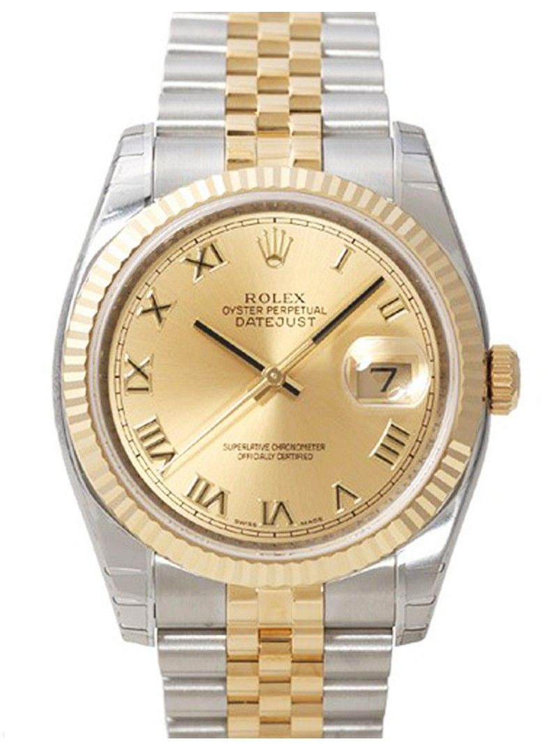 Datejust Gold face dual tone Watch