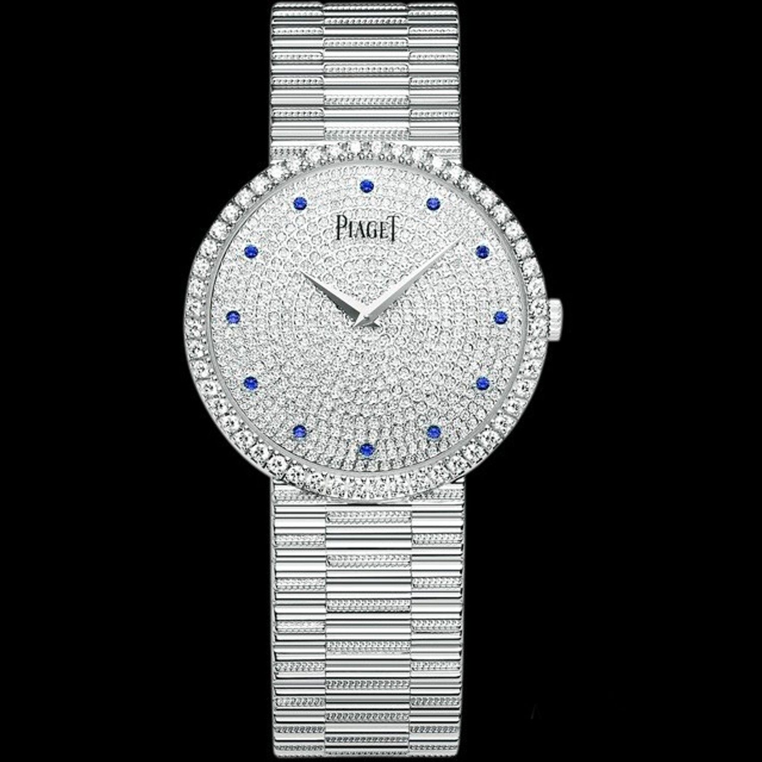 Piaget Limelight 25mm Full-set Diamonds Square Case/Dial/Bracelet Silver Dauphine Hands Quartz Women