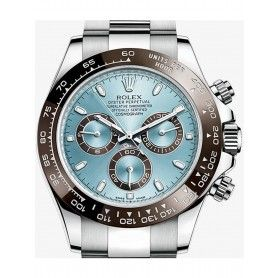 COSMOGRAPH DAYTONA OYSTER, 42 MM, SILVER WITH BLUE DIAL