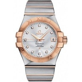 CONSTELLATION BRUSHED QUARTZ WHITE MOTHER OF PEARL DIAL LADIES WATCH