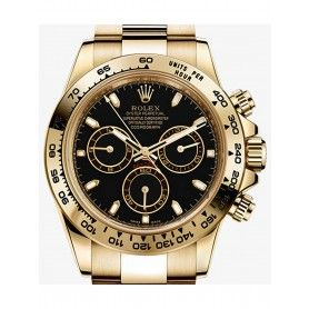 COSMOGRAPH DAYTONA OYSTER, 40 MM, YELLOW GOLD WITH BLACK DIAL