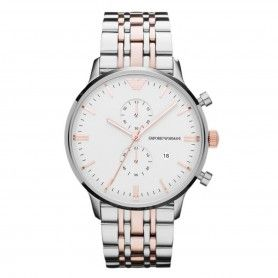 GIANNI WATCH WHITE FACE CHRONOGRAPH