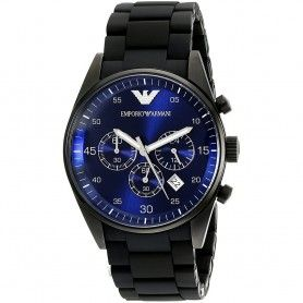 FULL BLACK BLUE DIAL CHRONOGRAPH