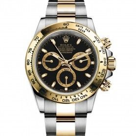 ROLEX COSMOGRAPH DAYTONA OYSTER DUAL TONE BLACK DIAL