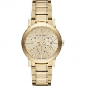 Burberry Women's 'The City' Chronograph Gold-Tone Stainless Steel Watch