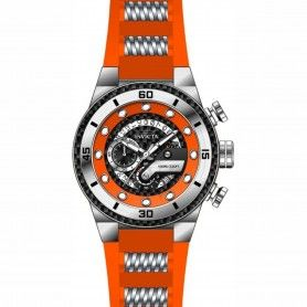 Men's S1 Rally Chronograph Orange Silicone and Stainless Steel Orange and Black Carbon Fiber Dial