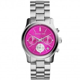 Michael Kors Runway Chronograph Pink Dial Stainless Steel  Watch