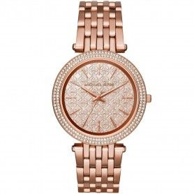 MICHAEL KORS Darcy Rose Dial Rose Gold-tone Ladies Watch