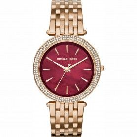 Michael Kors Darci Red Swarovski Dial Rose Gold-tone Watch - For Women