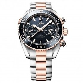 OMEGA SEAMASTER PLANET OCEAN 45MM BLACK DIAL TWO TONE