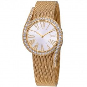 Limelight Gala Silver Dial Ladies 18 Carat Gold Watch