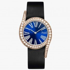 Piaget Limelight Gala Blue Diamond watch Black strap