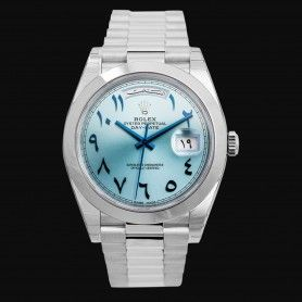 ROLEX DAY-DATE 40 PLATINUM ARABIC SCRIPT WATCH