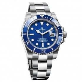 ROLEX OYSTER PERPETUAL SUBMARINER DATE SILVER WITH BLUE DIAL