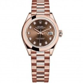 Rolex Datejust Ladies Swiss Automatic Brown Dial 28MM