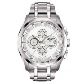 CHRONOGRAPH COURTIER STAINLESS STEEL DATE WHITE FACE