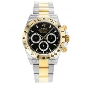 COSMOGRAPH DAYTONA OYSTER, 40 MM, STEEL AND YELLOW GOLD, BLACK DIAL WHITE CHRONOGRAPH