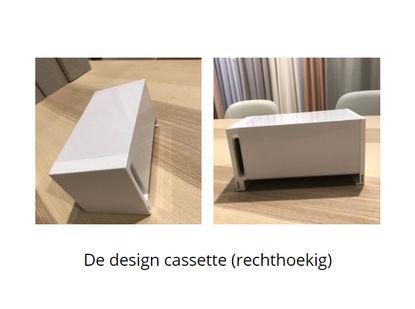 de design cassette voor onze rolgordijnen