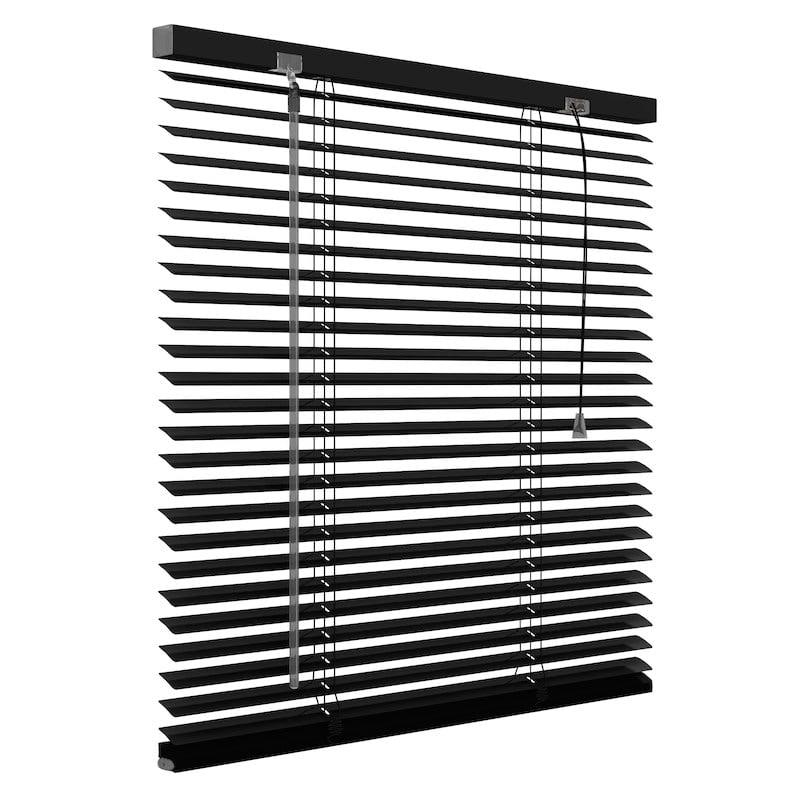 Aluminium jaloezie 25mm - Mat zwart - 80cm x 130cm