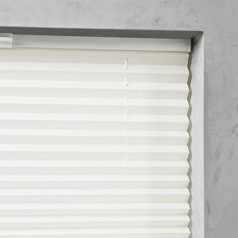 Plisségordijn gespannen - Lichtdoorlatend - Gebroken wit - 100cm x 130cm