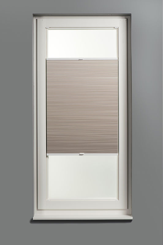 Plisségordijn dubbel gespannen - Verduisterend - Zand - 50cm x 130cm