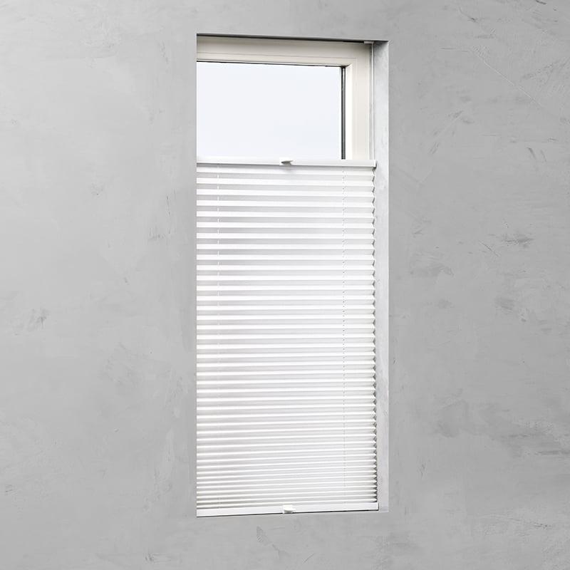 Plisségordijn gespannen - Lichtdoorlatend - Wit - 85cm x 130cm
