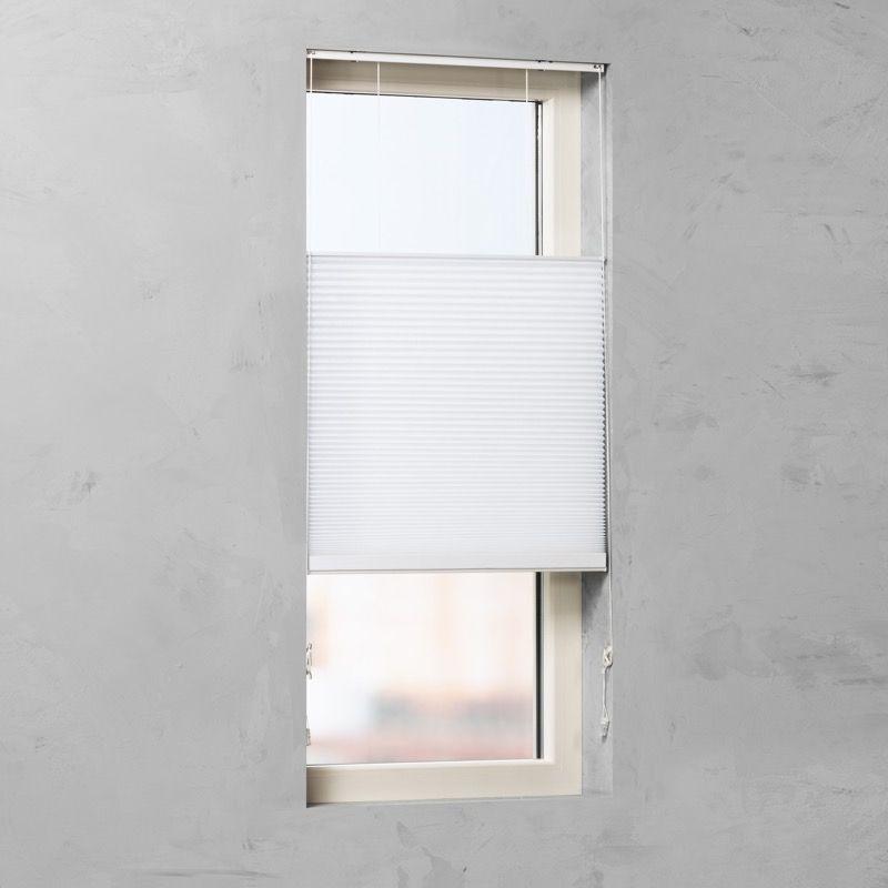 Plissé Gordijn - Wit - 70cm x 130cm