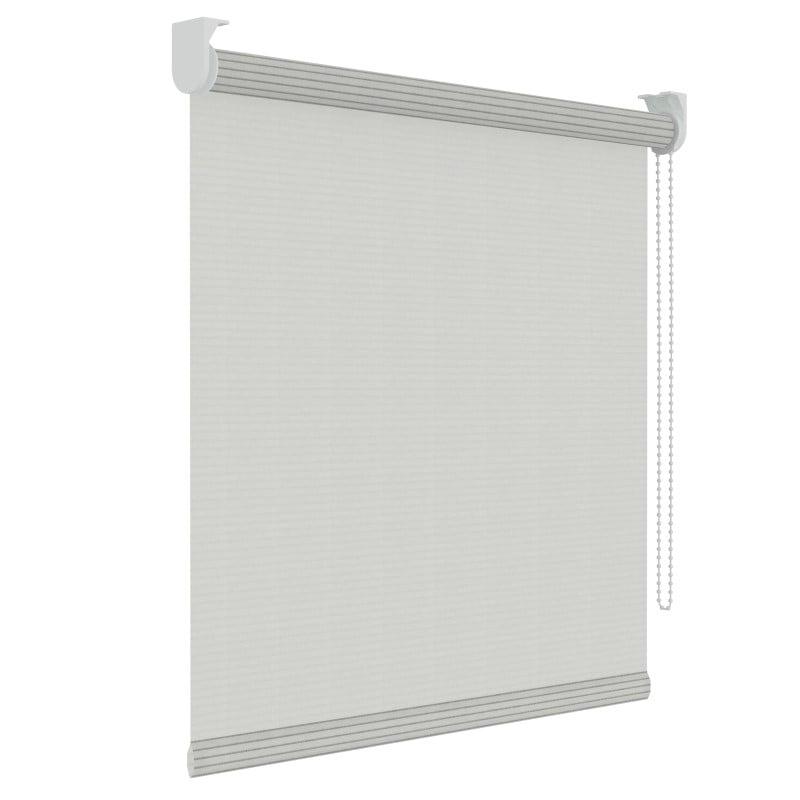 Rolgordijn structuur - Wit streep - Lichtdoorlatend - 90cm x 190cm
