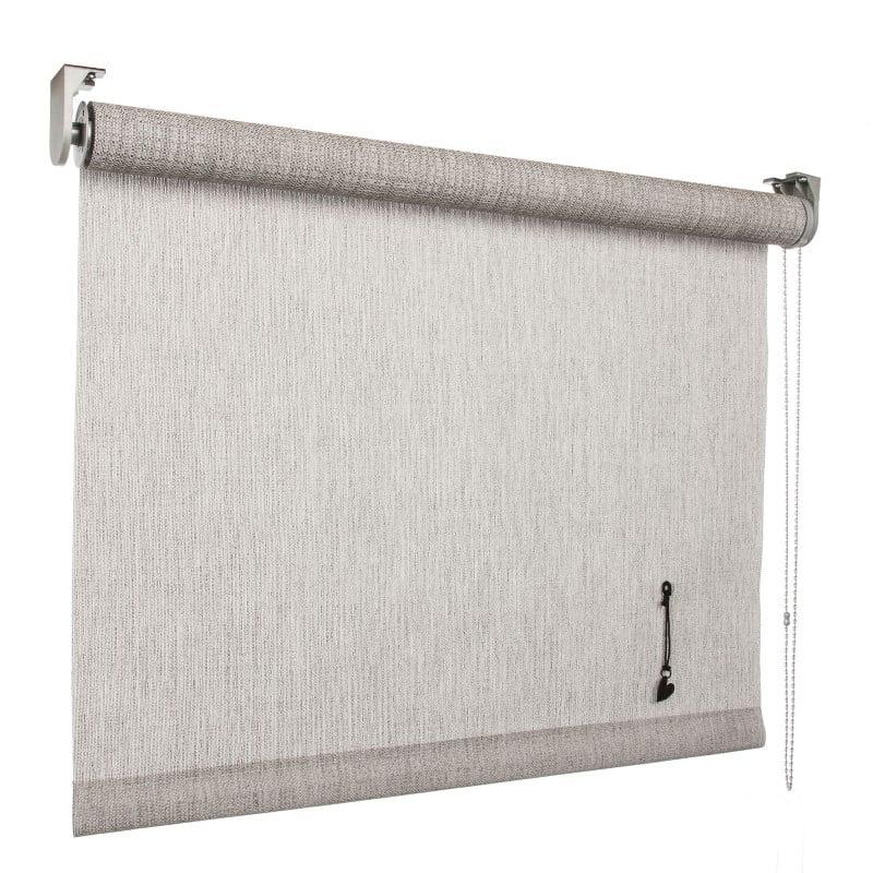 vtwonen Rolgordijn structuur - Mist light grey - Lichtdoorlatend - 60cm x 190cm